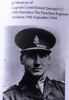 In memory of Captain Lionel Queripel VC, date unknown.