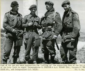 Capt Vere Hodge's F.O.B. (Forward Observation Bombardment) Team,  June 1944.