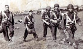 Display Paratroopers at Cardiff Arms Park, 1948.