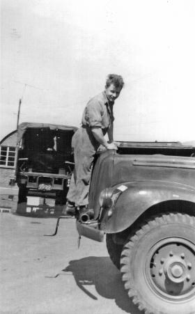 Carrick Watson fixing the 3 Ton Commer - again !!