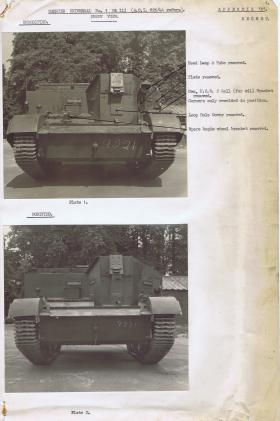 Document detailing the modifications required for the front of the Universal Carrier, AFDC, 1944.