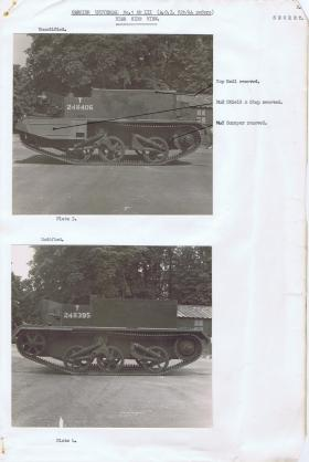 Document detailing the modifications required for the near side of the Universal Carrier, AFDC, 1944.
