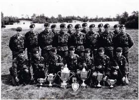 J Coy Shooting Team, Junior Para Company, South East District SAAM, 1982.