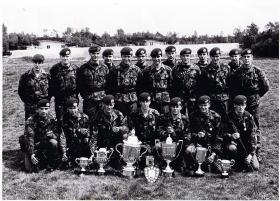 J Coy Shooting Team, Junior Para Company, South East District SAAM, 1982.