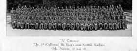 A Company, The 7th (Galloway) Battalion, The King's Own Scottish Borderers, Oslo Norway, May 1945.