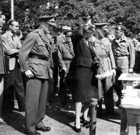 Crown Prince Olav of Norway and Crown Princess Martha, Oslo 1945.