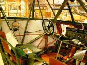 Cockpit of a WACO 'Hadrian' Glider