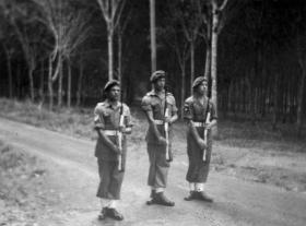 Members of 22 Para Coy changing guard Malaya 1946