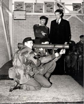 A Carl Gustav being demonstarted to a VIP, circa 1970s.