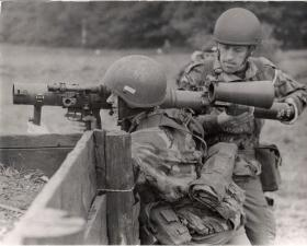 A Carl Gustav being reloaded, circa 1980s