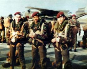 Members of 10 PARA ready to emplane a C130, date unknown.