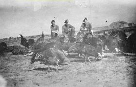 Members of 6 Para Bn doing stag over part of the Xmas Dinner - Palestine 1946