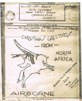 Christmas Message home from North Africa