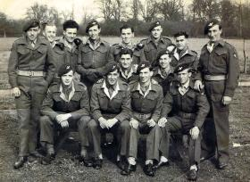 Members of the 6th (Royal Welch) Parachute Battalion, Ramsbury, c1945.