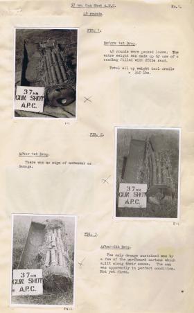 CLE Mk1 containing 37mm Gun Shot Armour-piercing Capped (APC)