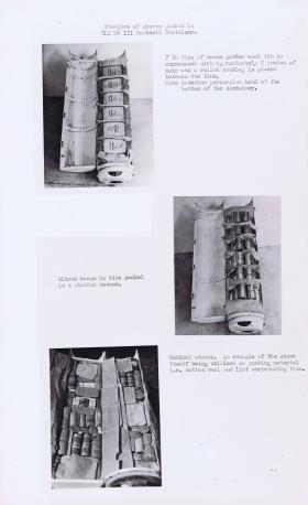 Examples of stores packed in CLE MkIII Bombcell Containers