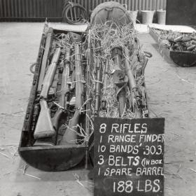 CLE containing eight rifles and other equipment, c1943.