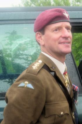 The Col Commandant on walkabout at the Airborne Forces Memorial, NMA 13 July 2012.