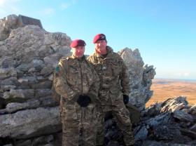 Sgt Paul McGrail and Regimental Adjutant Paul Raison, Falklands, 2012.