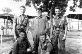 Pte H R Clarke (centre back row), date unknown.