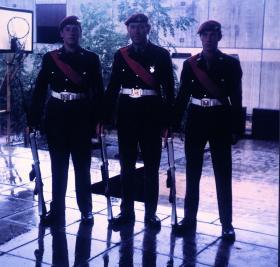 Colour Guard Party Aldershot circa 1971