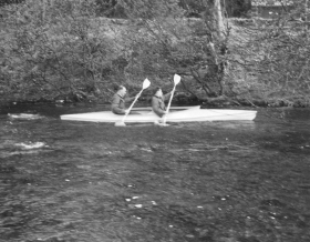 Sgt Mayall in Canoe, Wales