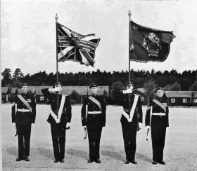 The Colours of the 12th Parachute Battalion TA, 1967.