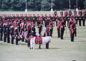 Prince Charles at the Colours Presentation, Queen's Avenue, Aldershot, 1998.