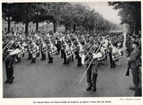 The Massed Bands and Drums of The Parachute Regiment, Queen's Parade Aldershot, 19 July 1950.