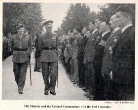 HM King George VI meets airborne forces veterans, Aldershot 19 July 1950.