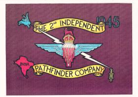 Design for the 2nd British Independent Pathfinder Company Standard, c1945-6.