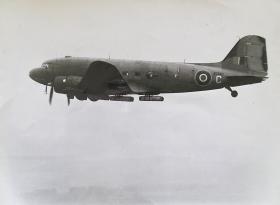 CLEs carried underneath a Dakota, c1946.