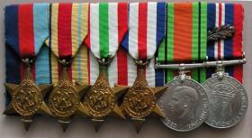 Medal set of Major G A Paull