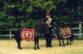 Corporal Osborne with Pegasus 4 and Falklands, 2002