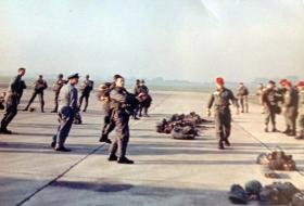 A joint exercise with American Paratroopers on Salisbury Plain, mid 1960s.