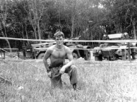 Graham Cox in Malaya, 1956.