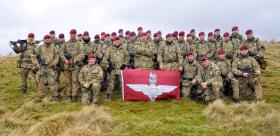 Elements of C Coy 4 PARA, Warcop training area, 1 March 2015.