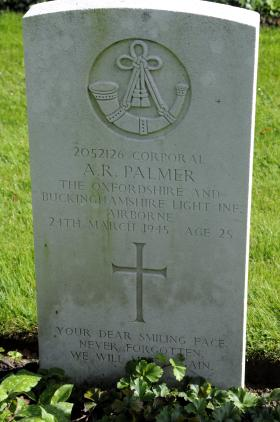 Grave of Cpl Alec R Palmer. Kleve, Germany.