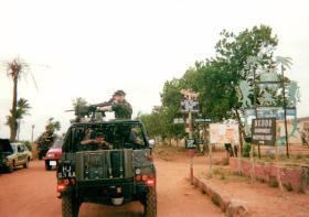 L/Cpl Proud on HMG, D Coy, 2 PARA, Sierra Leone, May 2000.