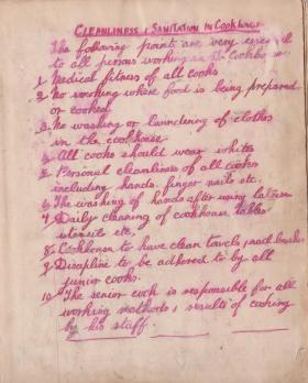 Corporal Cyril Dark's cookbook, AAC attached 225th Parachute Field Ambulance, 1944.