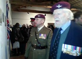 Capt 'Chris' Wells Adjutant 4 PARA and Maj 'Dick' Hargreaves, Casoli, December 2013