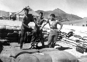 Down time in the mortar pit, Radfan 1966