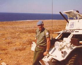 Ian Heywood as driver for LCpl Steve Thompson on United Nations duties