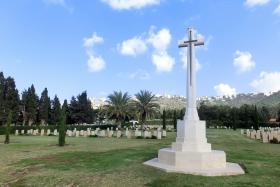 Cross of Sacrifice, Khayat Beach Cemetery, 1 January 2015.