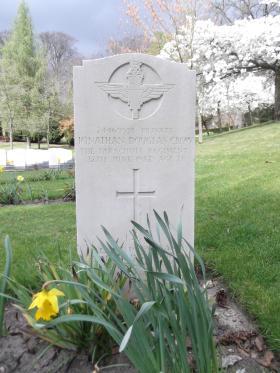 Headstone of Pte JD Crow, Aldershot Military Cemetery, April 2012.