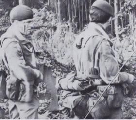 Colour Sergeant Whitby and Lt Robinson on exercise 1978