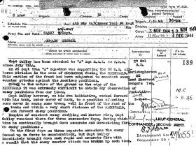 Military Cross Citation for Captain George Culley