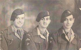 Three members of 6th Airborne Divisional Signal Regiment, 1948.
