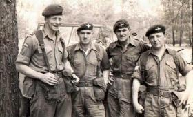 Capt Murray, Sgt Stead, Pte Wotton, Cpl Seddon 3 PARA, Cyprus 1960.
