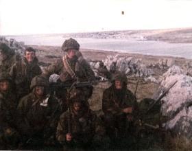 Members of D Company 2 PARA Falklands 1982